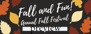 Fall Festival Invite/Banner/Ticket