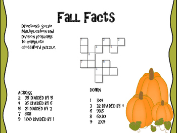 Fall Multiplication Project