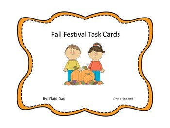 Fall Festival Task Cards