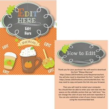 Fall Festival or Fall Party Editable Flier