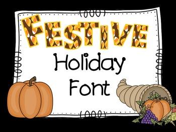 Fall Festive Font - Halloween - Thanksgiving