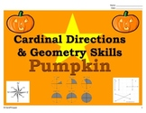 Fall Pumpkin - Cardinal (Map) Directions and Geometry (Lines and Angles)