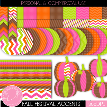 Fall Festivities Digital Paper and Accent Set