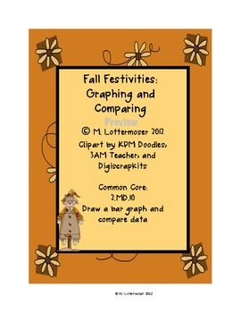 Fall Festivities Graphing: Common Core 2nd Grade Math Center