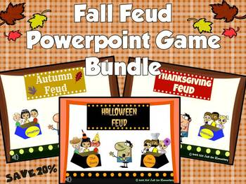 Fall Feud Powerpoint Game {BUNDLE}: Save 20%!!