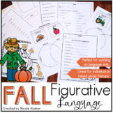 Fall Figurative Language Activities for Speech Therapy