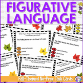 Figurative Language Task Cards for Fall