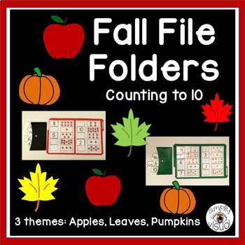 Fall File Folder Bundle--Counting to 10