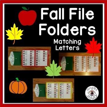 Fall File Folder Bundle--Matching Letters