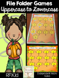 Fall File Folder Game: Lowercase to Uppercase Letter Match