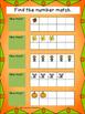 Fall File Folder Game: Number to Ten Frame Match