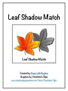 Fall File Folder: Leaf Shadow Match
