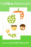 Fall Fill in Placemats Printable - Active Littles