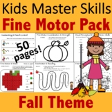 Fall Fine Motor Activities Pack - (With Math and Sight Words)