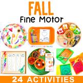Fall Fine Motor Skill Activities & Homeschool Preschool Printable Centers