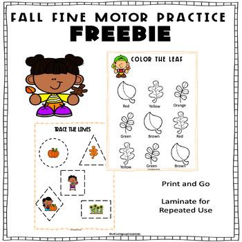 Fall Fine Motor Freebie