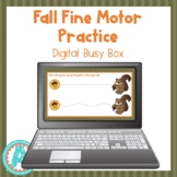 Fall Fine Motor Practice Digital Busy Box for Distance Learning