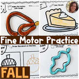 Fall Fine Motor Practice | Low Ink No Prep | Special Educa