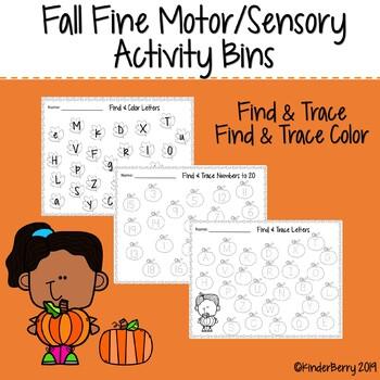 Fall Fine Motor/Sensory Bin Match Activity