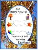 Fall Fine Motor Skill Activities, Tracing Worksheets, Special Education and Auti