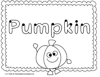 P is for Pumpkins!  Fall themed reading and writing worksheets