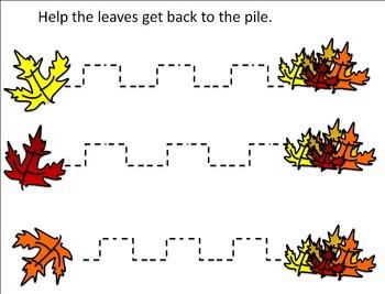 Fall Fine Motor Worksheets or Fall Fine Motor Learning Center