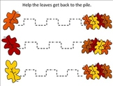 Fall Fine Motor Worksheets or Fall Fine Motor Learning Center