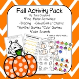 Fall and Halloween Fine Motor and Math Activities for Prek