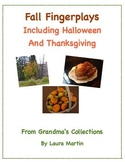 Fall songs and Activities: Halloween, Thanksgiving and More