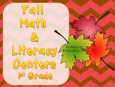 Fall First Grade Math & Literacy Centers (21+ centers)