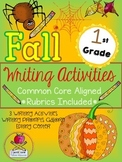 Fall First Grade Writing Prompt Activities & More Common Core {Rubrics Included}