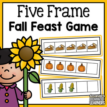 Fall Five Frame Game - Thanksgiving by Amanda\'s Little Learners