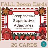 Fall Flair Comparative and Superlative Adjectives Boom Cards™