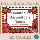 Fall Flair Countable and Uncountable Nouns Boom Cards™