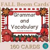 Fall Flair Grammar and Vocabulary Bundle Boom Cards™ 3rd Grade