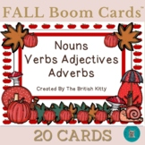 Fall Flair Nouns Verbs Adjectives Adverbs Boom Cards™
