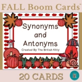 Fall Flair Synonyms and Antonyms Boom Cards™