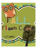 Fall Flash Cards~ Letters, Sounds & Tricky Words (sight words)