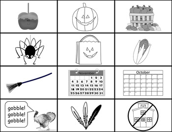 Fall Flashcards and Activities
