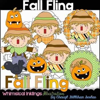 Fall Fling- Scarecrow- Clipart Collection