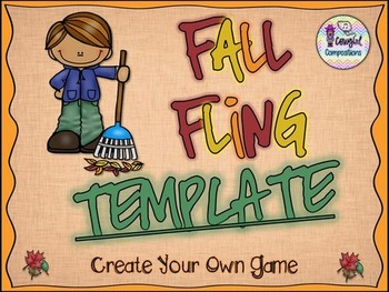 Fall Fling Template  - Create Your Own Game