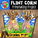 Fall Flint (Indian) Corn Printmaking Project