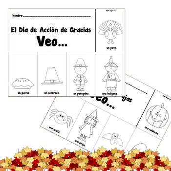 Fall Flip Books in Spanish