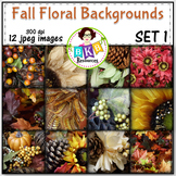 Fall Floral Photo Digital Background Papers Set 1- {Graphics for Commercial Use}