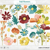 Colorful Fall Flower Clip Art