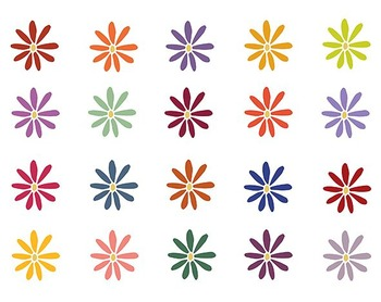Fall Flower Clip Art Set #075