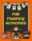 Fall Fluency Activities