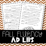 Fall Fluency Enhancing Ad Libs (Stuttering Therapy)