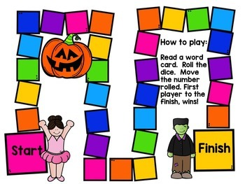 Fall Reading Fluency Game