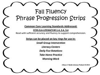 Fall Fluency Phrasing Progressions